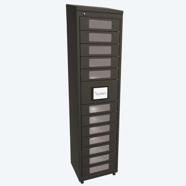 personal item storage intelligent lockers Keytracker iLockerz ecoLockerz