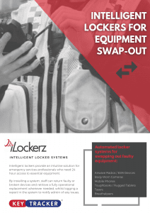 Keytracker iLockerz drop-off and collection equipment swap out lockers