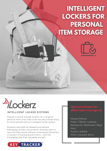 KeyTracker iLockerz Intelligent Lockers Information Sheet